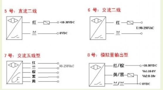 机械开关与交流光电开关传感器串联接线方法